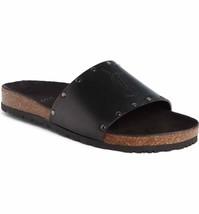 SAINT LAURENT Jimmy Logo Stud Slide Sandals Size 36.5 - $445.50