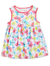 First Impressions Baby Girls Butterfly-Print Tunic Dress, 6-9 Months - $15.00