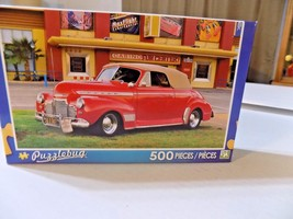 1941 RED CHEVY CONVERTIBLE SPECIAL DELUXE / CASINO JIGSAW PUZZLE 500 pc ... - $7.60