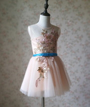 Blush Pink A-Line/Princess Knee-length Flower Girl Dress - Lace Sleeveless Scoop image 8
