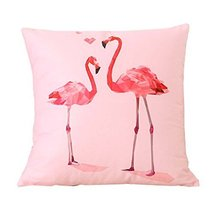 Cute Flamingos Decorative Cushion Covers Throw Pillow Cases 18 in,A4 - $26.44