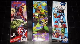 Set of 3 Marvel Avengers-Teenage Mutant Ninja Turtles (50) Piece Assorted Sealed - $14.99