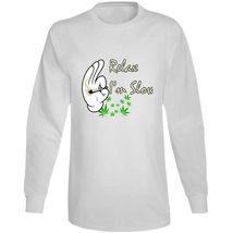 Relax I'm  Slow 420 Canna Long Sleeve T Shirt image 6