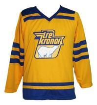 Custom Name # Tre Kronor Sweden Retro Hockey Jersey New Lindbergh #1 Any Size image 1