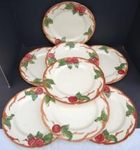 "Eight Vintage Franciscan 10 1/2"" Dinner Plates - Apple Pattern - $38.00"
