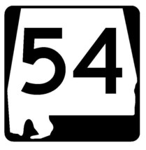 Alabama State Route 54 Sticker R4440 Highway Sign Road Sign Decal - $1.45+
