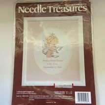 Needle Treasures Cherish Birth Sampler 8 X 10 Counted Cross Stitch Kit New - $16.99