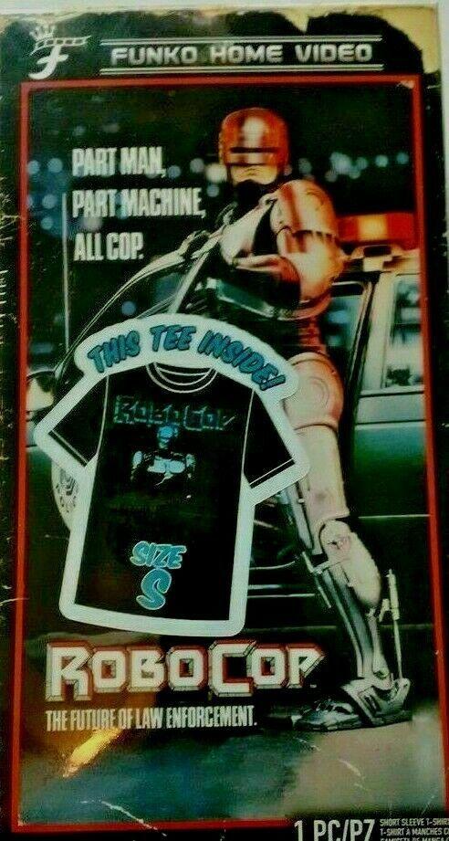 Neu Herren Robo Cop Funko Home Video VHS Verpackt Kurz Arm T-Shirt Exklusiv Nib