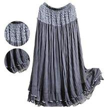 Lovely Ruffled Lace Women Long Skirt - $22.26