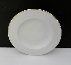 Christopher Stuart Y0201 Ambassador Gold Rim Soup Bowl - White With Gold... - $7.92