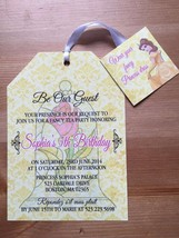 Beauty and the Beast Custom Invitation, Tea Bag Invites, Birthday, Baby ... - £11.33 GBP