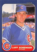1986 Fleer #381 Lary Sorensen NM Near Mint Cubs - $0.75