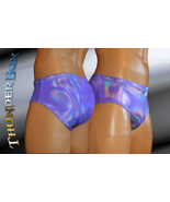 Purple Reflective Hologram Nylon Spandex Swim, Dance, Costume Briefs S, ... - $25.00