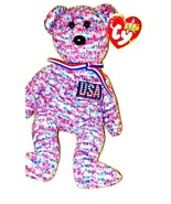 Ty USA Bear Beanie Baby 2000 Patriotic Retired  - $14.99