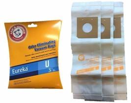 4 EUREKA Style U VACUUM BAGS 54310C Bravo, PowerLine, Premium Type U (3 ... - $5.69