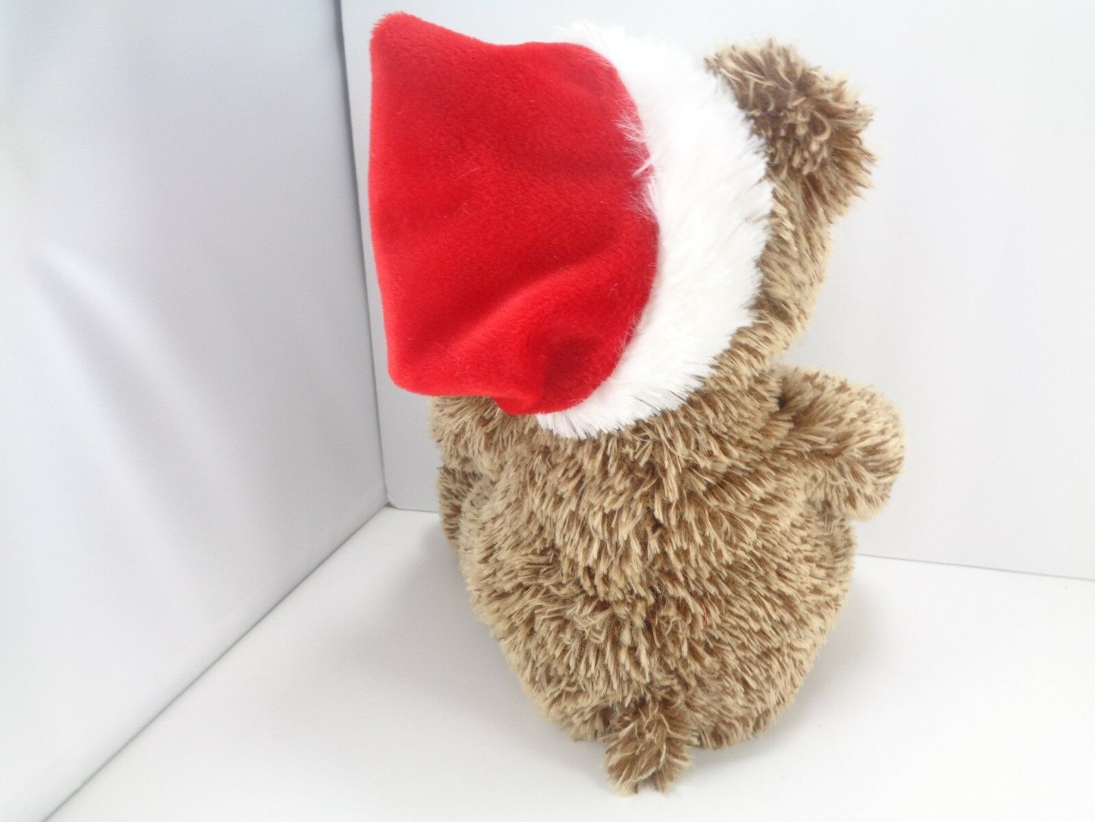 "Aurora Plush Stuffed Animal Christmas Santa Hat Teddy Bear Holiday 12"""