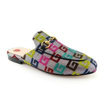 New Gucci Size 6.5 Princetown Gg Color Logo Mules Flats Shoes 36.5 Eur - $649.00