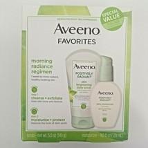 Aveeno Positively Radiant Daily Scrub 5 Oz & Moisturizer 4 Oz Exp 09/21  - $17.24