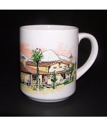 Coffee Mug Southwest Cactus Mountain Ranch House Ceramic Cup Green Brown... - $7.42