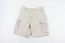 Vtg Polo Ralph Lauren Mens Size 34 Fatigue Chino Cargo Shorts Khaki Tan Cotton - $49.45