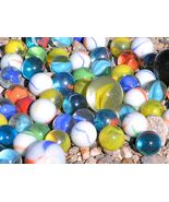 SIXTY-TWO New Glass Marbles Big and small - $11.99
