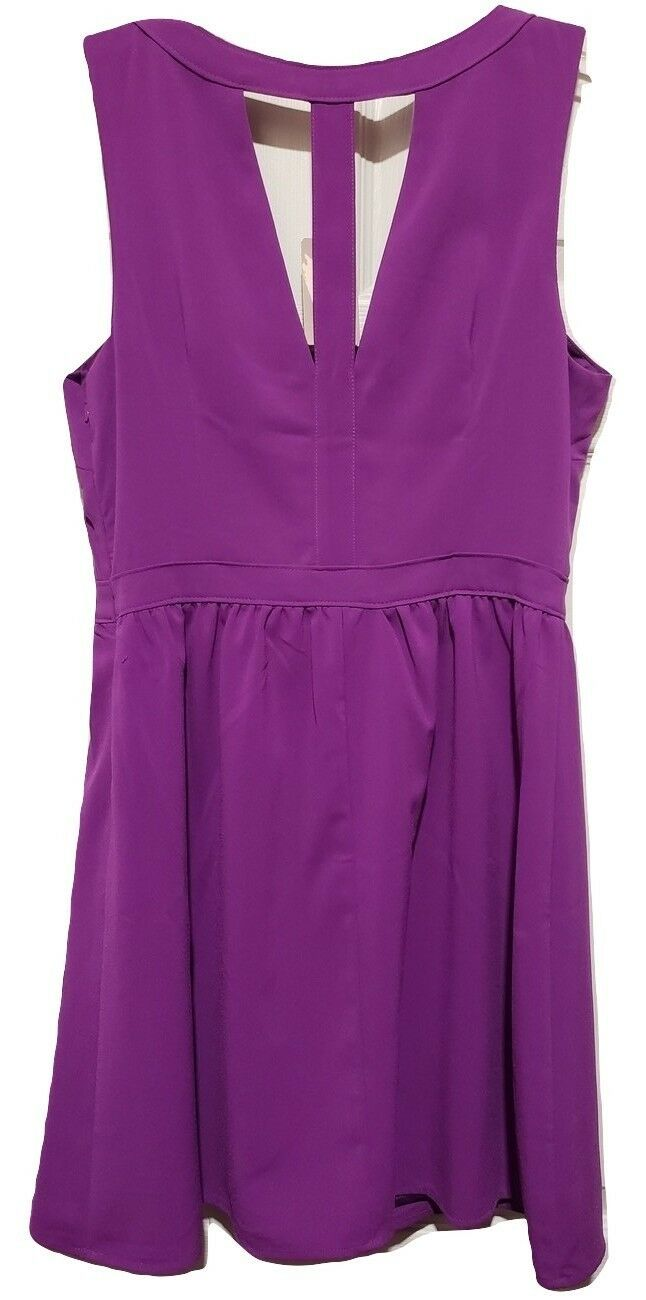 NWT Forever 21 Purple Cutout Dress Sz M