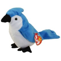 TY Beanie Babies • ROCKET the BLUE JAY Bird 1998 Retired Plush Toy Colle... - $9.50