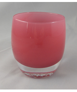 Glass Baby Handblown Drinking Art Glass Pink Smooch - $29.99