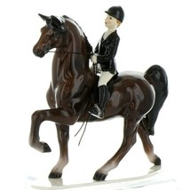 Hagen Renaker Specialty Horse Dressage with Rider Ceramic Figurine image 1