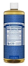 Dr. Bronner's - Pure-Castile Liquid Soap Peppermint, 32 ounce - Made wit... - $27.10