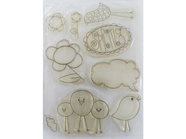 Spring Clear Stamp Set, Chicks, Flowers, and More