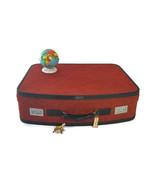 Vintage Hartmann Suitcase 1960s Red Fabric Tweed Luggage Burlesque Case ... - $88.11