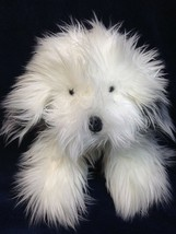 Russ Shags Old English Sheep Dog Plush Puppy White Gray Shaggy Stuffed A... - $39.99
