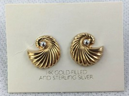AVON 1983 Convertable Pierced Earrings 14K Gold Filled & Silver New Old Stock - $194.95