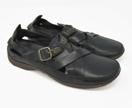 Timberland Women's Sz 7.5M Black Leather Slip On Buckle Strap Mary Jane Flats - $29.95