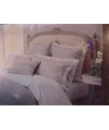 Christy Fitzroy Oyster Blue and Taupe Jacquard Shams Standard 2 - $49.00
