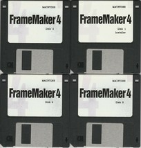 Adobe Framemaker 4 ~ 12 disk set for Mac including PSPrinter & Upgrade 4... - $16.32