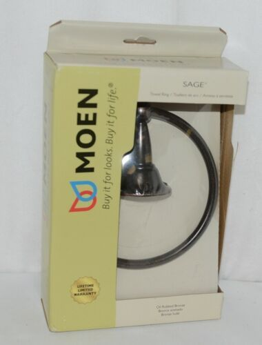 Moen DN6886ORB Sage Collection Towel Ring Oil Rubbed Bronze