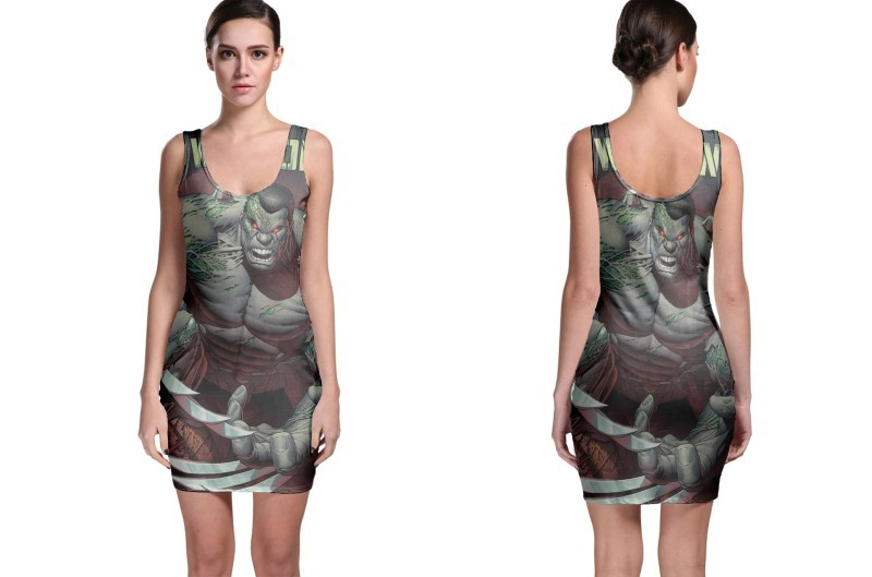 The incredible hulk weapon bodycon dress