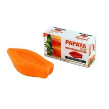 Synaa Papaya Soap - Skin Whitening Soap with Vitamin E (Pack of 1) image 1