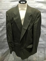 Burberrys Men vintage blazer size 46r Brown Black Checks pure wool b82 - $71.98