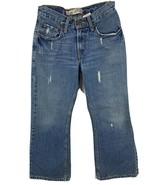 """Levis 527 Girls Size 10 Denim Blue Jeans Distressed Inseam 24"""" - $17.77"""