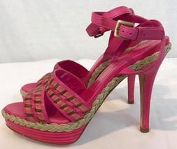 Cole Haan vanessa air women's pink Leather Platform Sandals Size 6 - $47.02