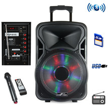 beFree Sound 12 Inch Bluetooth Rechargeable Party Speaker With Illuminat... - $122.49
