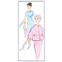 An item in the Collectibles category: 1950s Vintage Modes Royale Sewing Pattern 1659 Misses Sheath Dress Jacket 14/34