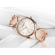 Women Watch Wristwatch Rose Gold Bracelet Stainless Steel Fashion Luxury... - $34.82