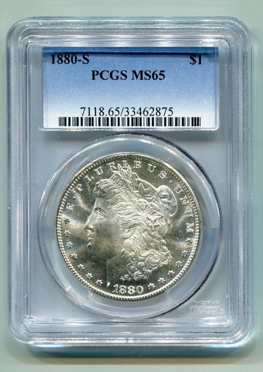 1880-S MORGAN SILVER DOLLAR PCGS MS65 NICE ORIGINAL COIN BOBS COINS FAST SHIP