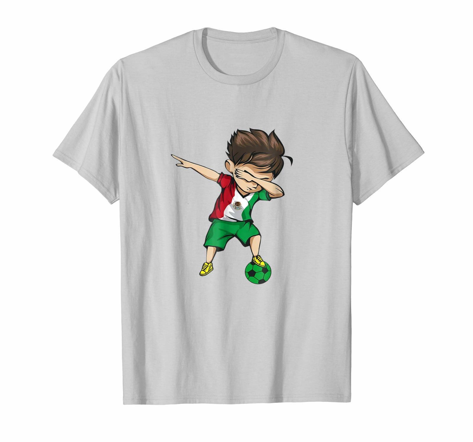 New Shirts - Dabbing Soccer Boy Mexico T-Shirt - Mexican Football Men