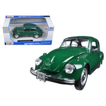 1973 Volkswagen Beetle Green 1/24 Diecast Model Car by Maisto 31926GRN - $28.33