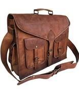 Men's Leather Messenger Bag, Brown Leather Bag, Laptop Bag, Office Bag 1... - £45.41 GBP